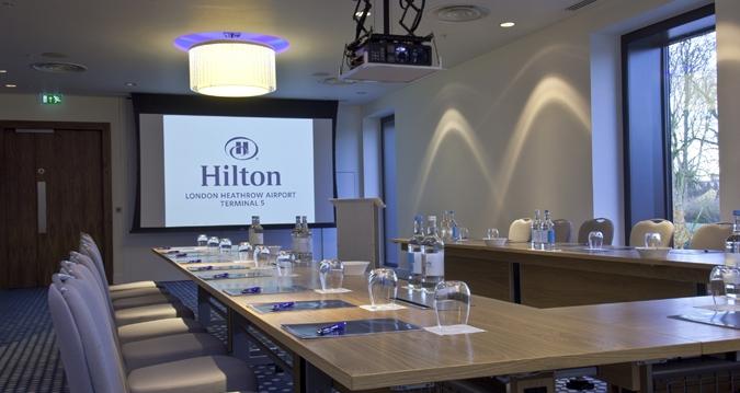 Meeting Rooms at Hilton London Heathrow Airport Terminal 5, Hilton London Heathrow Airport Terminal 5, Poyle Road, Slough, United Kingdom