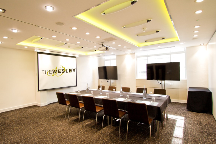 For just 1560  you can book the Annesley at the The Wesley Hotel    Conference. Meeting Rooms at The Wesley Hotel   Conference London Euston